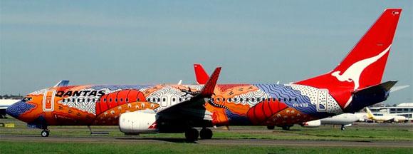 Aboriginal art on plane - Yananyi Dreaming