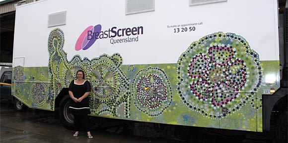 Breast Screen Queensland truck