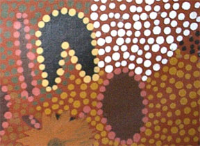 Aboriginal dot painting (detail).