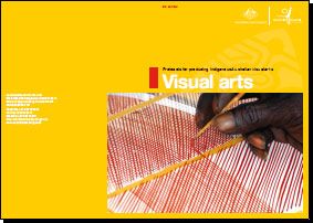 Guide cover: Protocols for producing Indigenous Australian visual arts