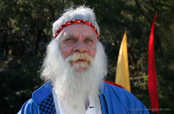 An Aboriginal elder with a white beard