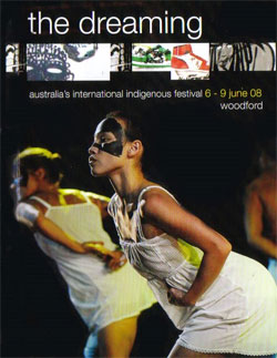 Program cover of the Dreaming Festival in Woodford, 2008