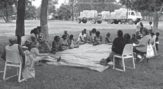 Community meeting during the inquiry into sexual child abuse in the NT.