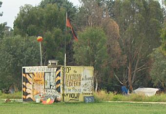 Aboriginal Tent Embassy in 2004.