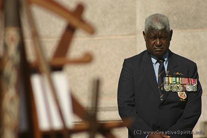 David Williams at the Aboriginal Digger commemoration in Sydney.