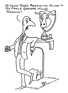 A cartoon showing a noble man in a relaxed position holding a drink.