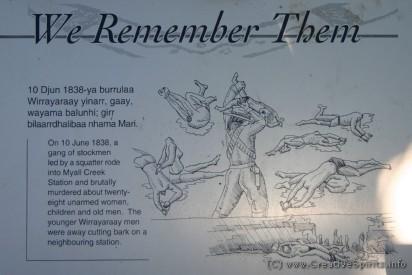Plaque 6 of the Myall Creek memorial walk.