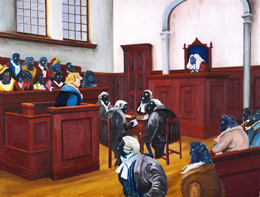 Judgement by His Peers - Painting by Gordon Syron