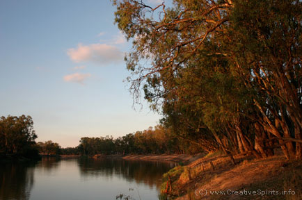 Sunset over the Murray River.