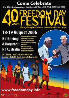 Poster of the 2006 Freedom Day Festival's 40th anniversary.