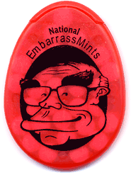 A pack of National EmbarrassMints, from 2007.