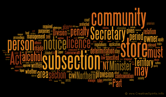 Word cloud of the NT Stronger Futures Act.