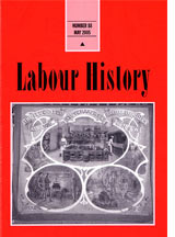 Cover of the Labour History journal