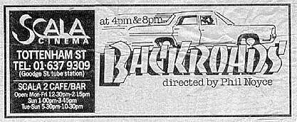An old ad advertising the movie in the Time Out Magazine.