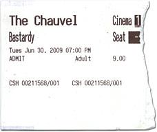 Movie ticket for 'Bastardy'