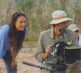 Director Darlene Johnson and cinematographer Kim Batterham on location.