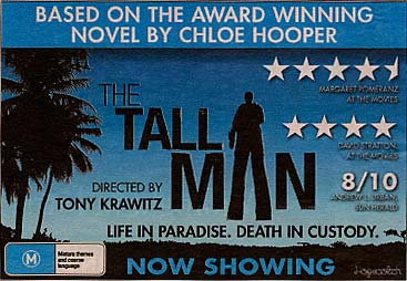 Newspaper ad for The Tall Man