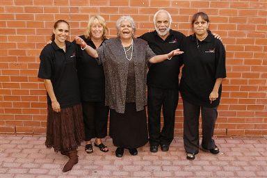 Evelyn Rogerson, Lyn Jones, Doris Kartinyeri, Sid Graham and Brenda Rogerson